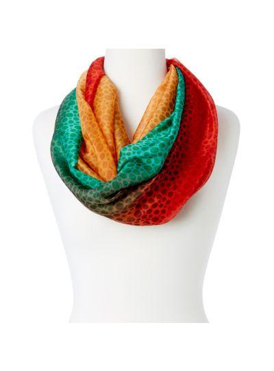 Lightweight Women's Polka Dot Infinity Scarfs Soft Tri-Color Silk Infinity Loop Scarfs Online