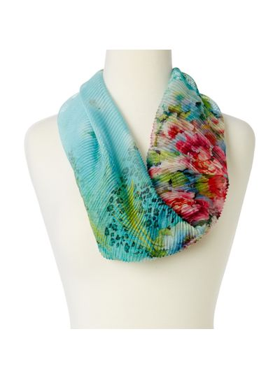 Soft Floral Design Infinity Scarf for Women Super Lightweight Polyester Loop Scarfs Online
