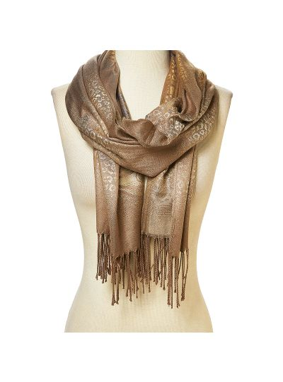 Lightweight Women's Tan Color Acrylic and Viscose Pashmina Scarf for Women Winter Fashion Online