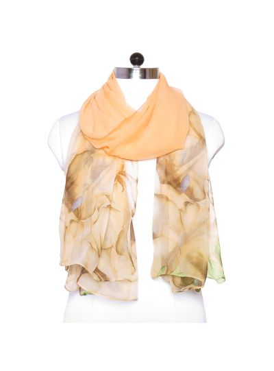 Lightweight Silk and Polyester Summer Fall Floral Scarf for Women Online