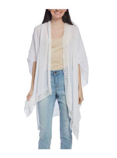 Viscose Hem Open Handkerchief Long Kimono Women Cover Ups