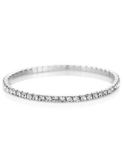 Sparkling Silver Layer Crystal Tennis Bracelet for Women Online