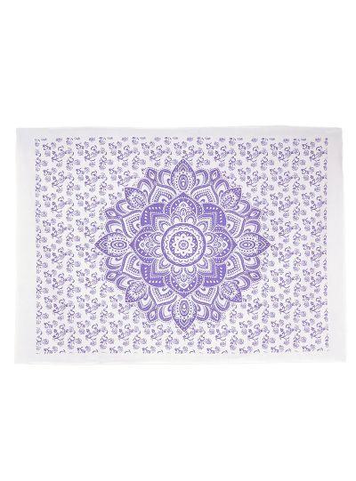 Purple Cotton Printed Lotus Mandala Wall Hanging Poster Online