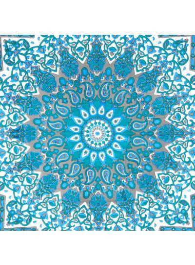 Turquoise Cotton Printed Star Mandala Wall Hanging Poster Online
