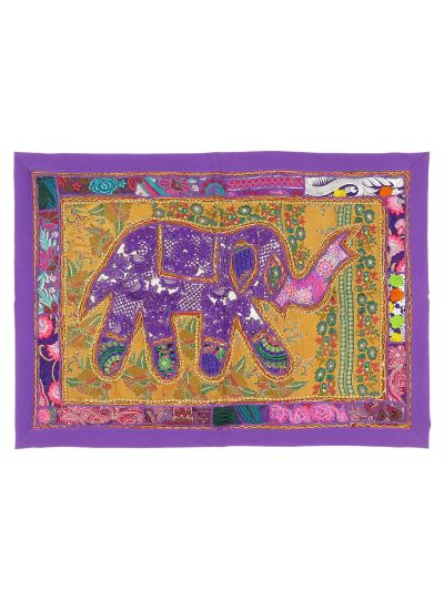 Vintage Patchwork Elephant Print Cotton Wall Poster Tapestry For Home Decor