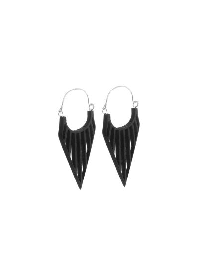 Elegant Black Handmade Wooden Dangle Earrings for Women Fashion Ear Jewelry Online