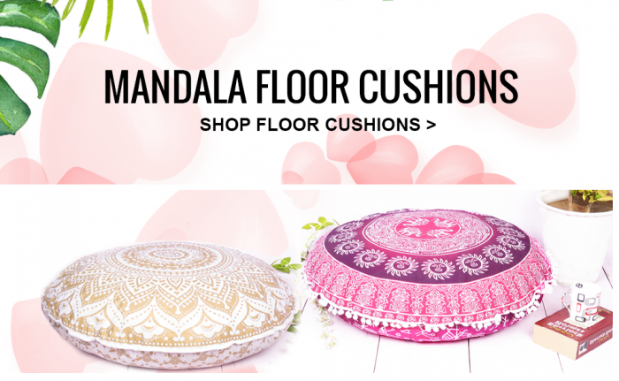 Boho Floor Cushions and Poufs: Add Style and Comfort into your home